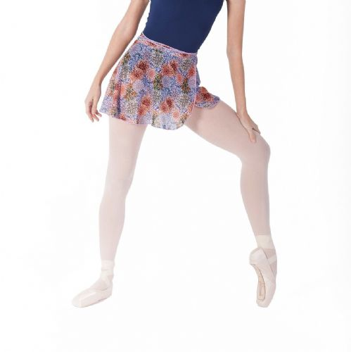 INTERMEZZO Ladies Dance Wrap Around Ballet Skirt Mosaic Floral Multi Print